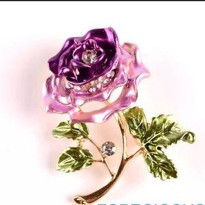 Elegance Flower Pin/Brooche  Rhinestone